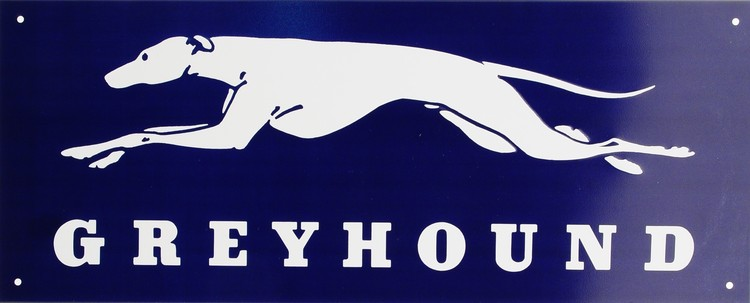 GREYHOUND Metalni znak