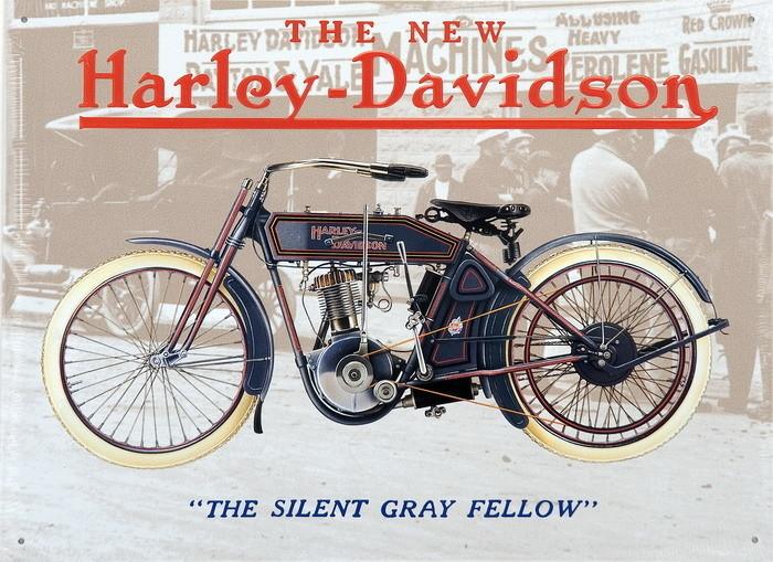 HARLEJ DAVIDSON - old grey fellow Metalni znak