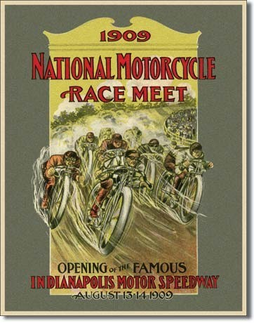 INDY 500 - motorcycle race Metalni znak