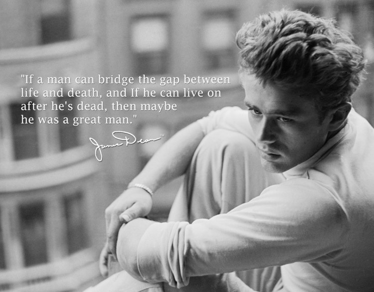 JAMES DEAN GREAT MAN Metalni znak