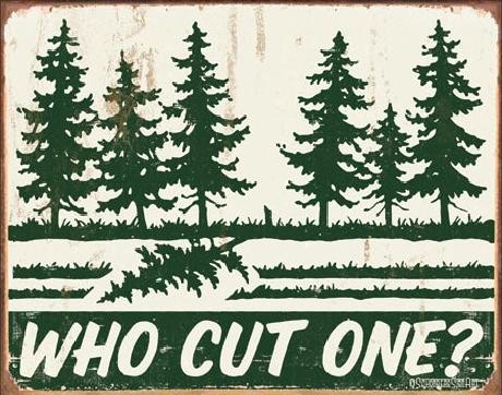 Metalni znak SCHONBERG - Who Cut One?