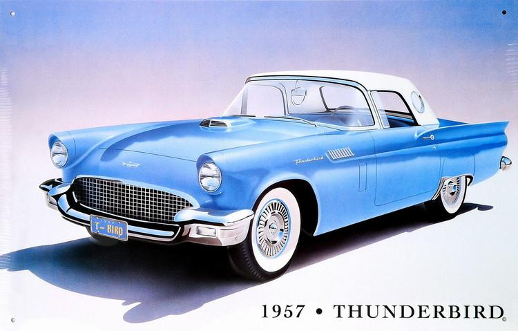 Metalowa tabliczka 1957 THUNDERBIRD