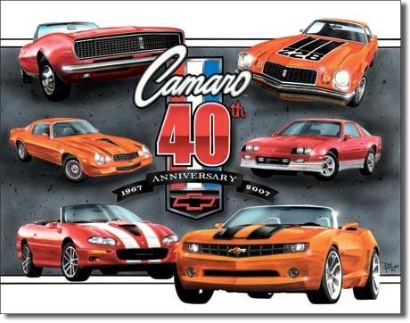 Metalowa tabliczka CAMARO - 40th anniversary