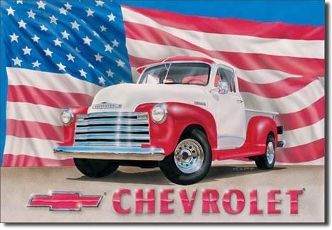 Metalowa tabliczka CHEVY 51 - pick up