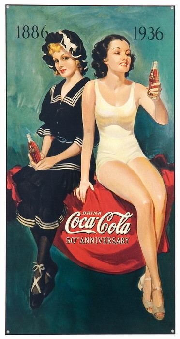 Metalowa tabliczka COKE BATHING BEAUTIES