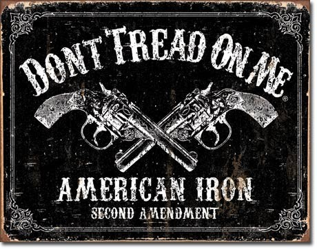 Metalowa tabliczka DTOM - american iron