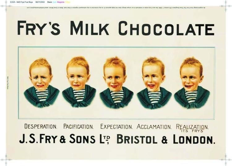 Metalowa tabliczka Fry's 5 boys