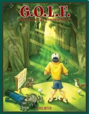 Metalowa tabliczka GOLF - believe