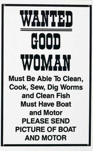 Metalowa tabliczka Good woman