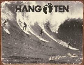 Metalowa tabliczka HANG TEN