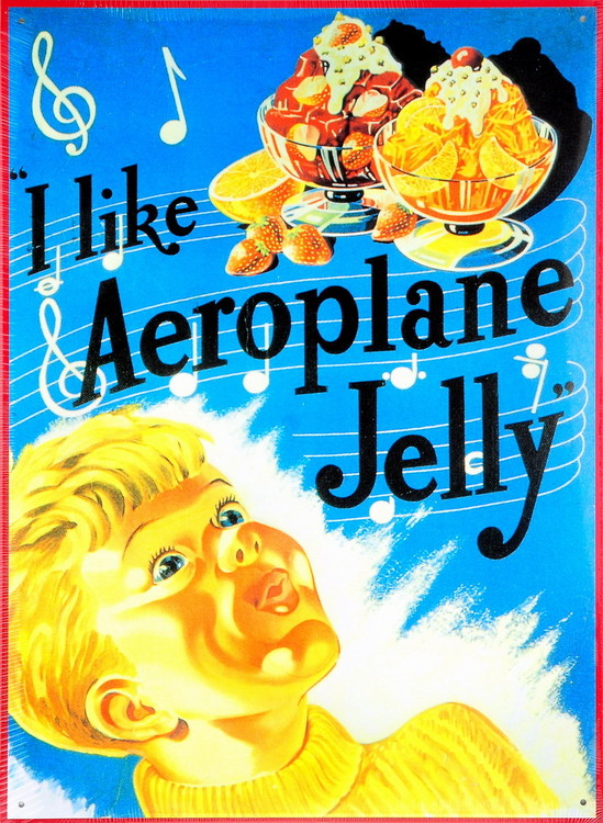 Metalowa tabliczka I LIKE AEROPLANE JELLY