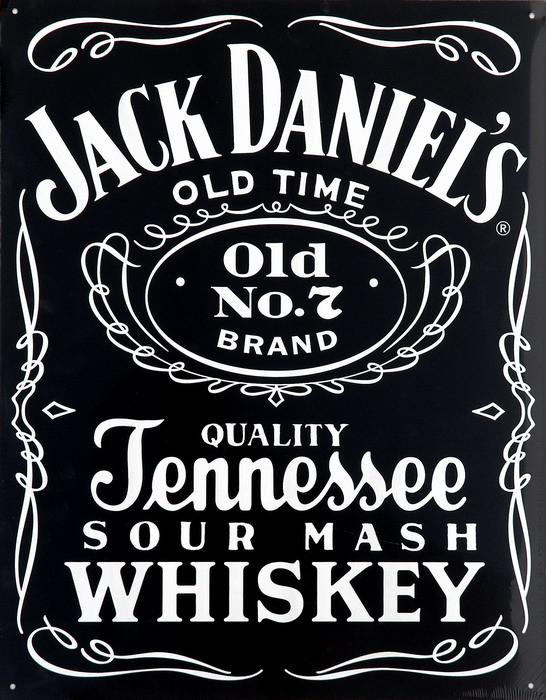 Metalowa tabliczka JACK DANIEL'S  BLACK