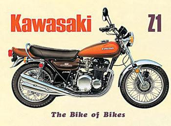 Metalowa tabliczka KAWASAKI