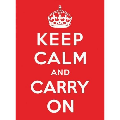Metalowa tabliczka KEEP CALM RED