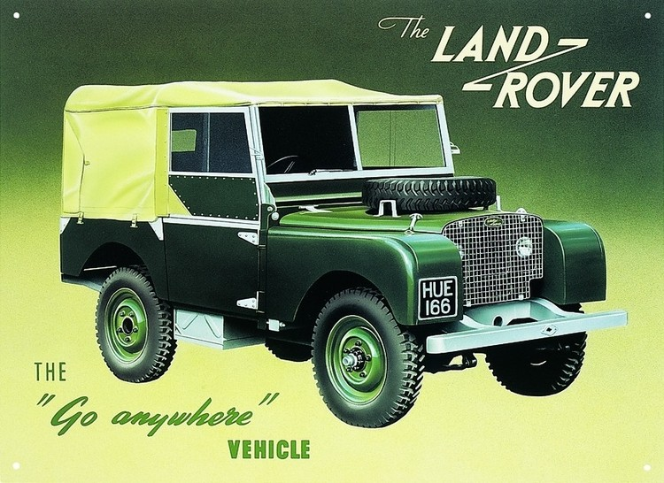 Metalowa tabliczka LAND ROVER SERIES 1