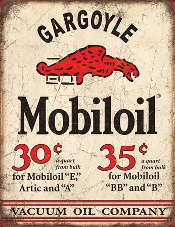 Metalowa tabliczka Mobil Gargoyle