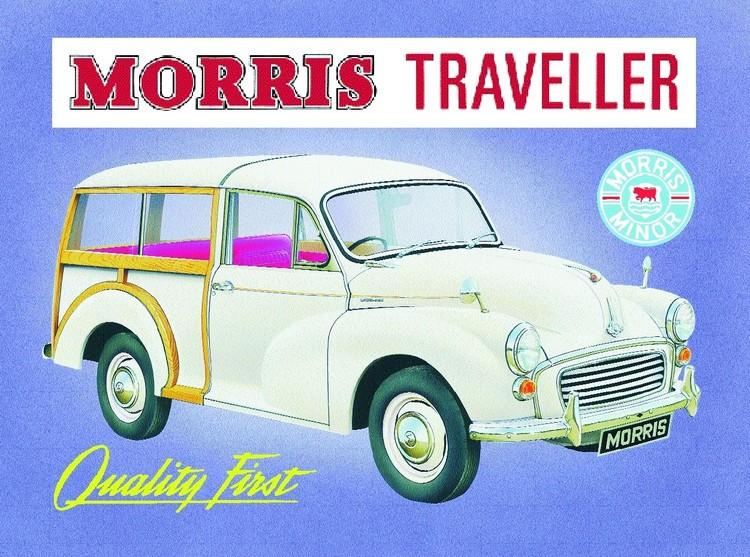 Metalowa tabliczka Morris traveler