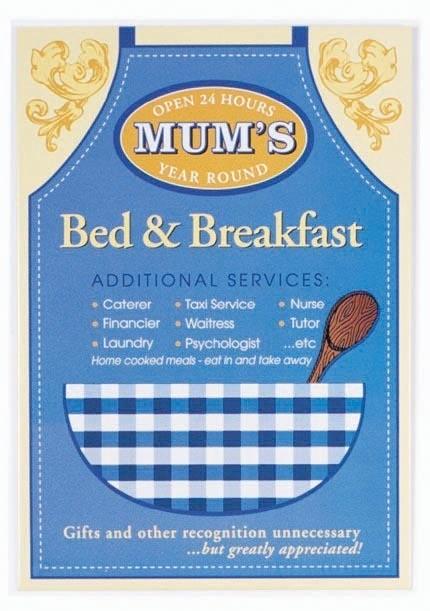 Metalowa tabliczka MUM'S - Bed and breakfast