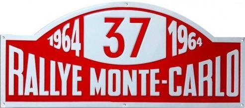Metalowa tabliczka RALLYE MONTE-CARLO
