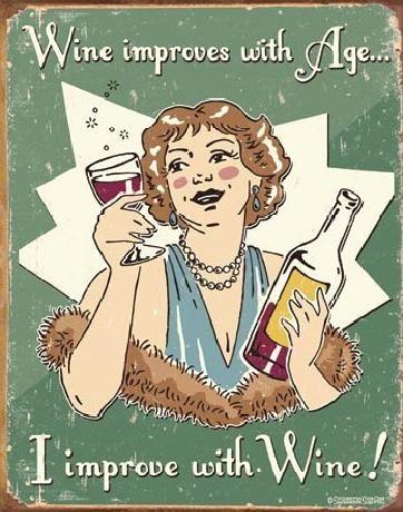 Metalowa tabliczka SCHONBERG - wine improved