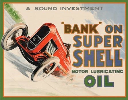 Metalowa tabliczka Shell - Bank On