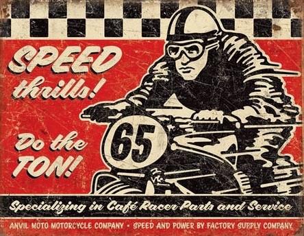 Metalowa tabliczka Speed Thrills