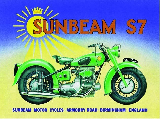 Metalowa tabliczka Sunbeam