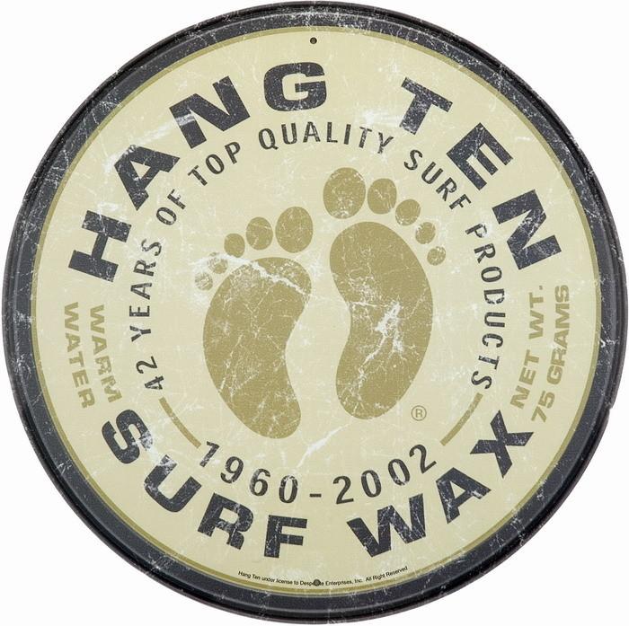 Metalowa tabliczka SURF WAX