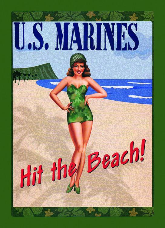 Metalowa tabliczka U.S. MARINES