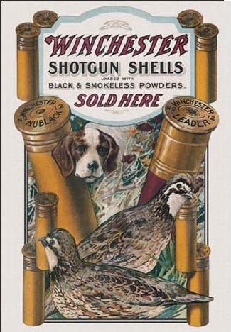 Metalowa tabliczka WIN - dog & quail