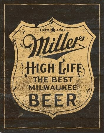 Metalskilt Miller - Vintage Shield