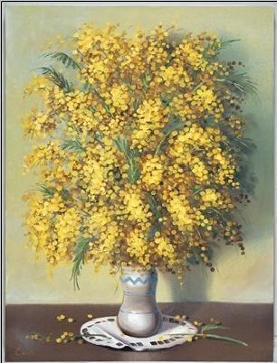 Mimosas Reproduction d'art