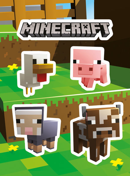 Αυτοκόλλητο βινυλίου  Minecraft - Animals