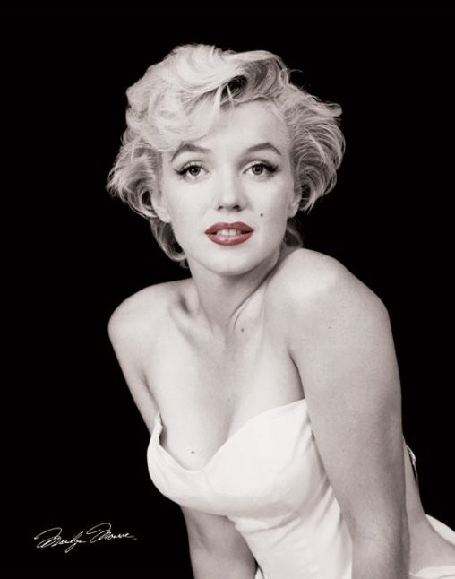 MARILYN MONROE - red lips Mini plakat