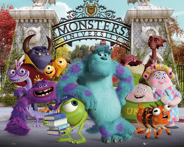 MONSTERS UNIVERSITY - cast Mini plakat