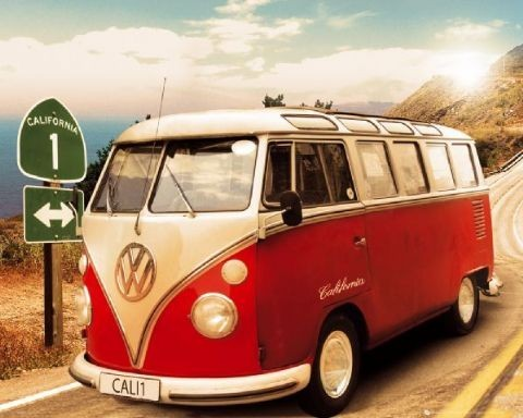 VW Californian camper Mini plakat