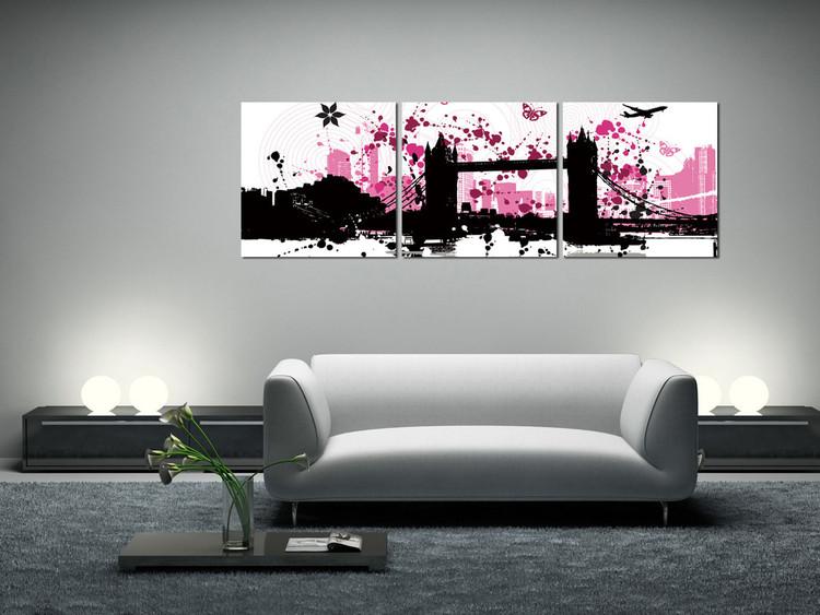Τοποθετημένη εκτύπωση έργου τέχνης  Modern Design - City Collage