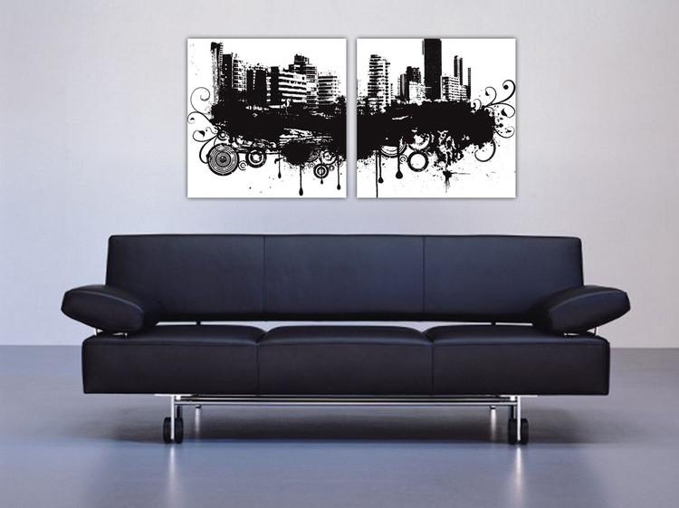 Cuadro Modern Design - City in Clouds