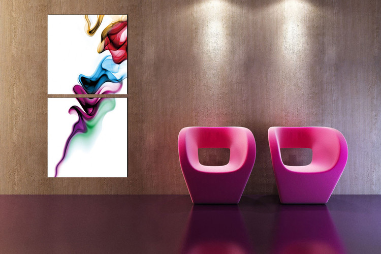 Modern Design - Colorful Smoke Moderne billede