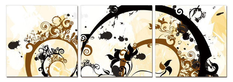 Modern Design - Flower Spirals Modern tavla