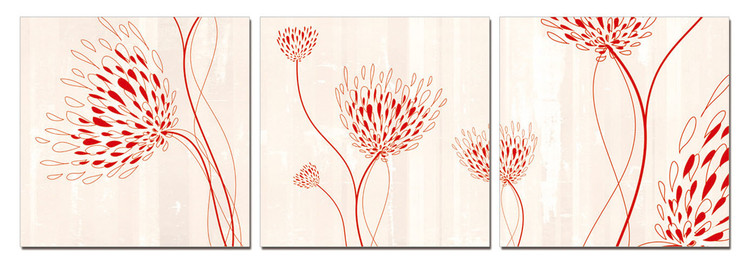 Modern design - flowers Tableau Multi-Toiles