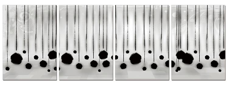 Modern Design - Hanging Balls Tableau Multi-Toiles