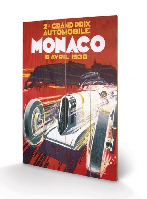 Monaco - 1937 plakát fatáblán