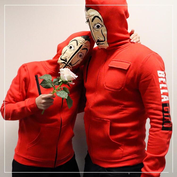 Mikina Money Heist (La Casa De Papel) - Mask