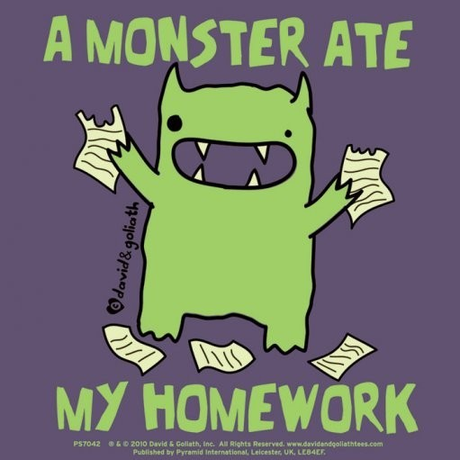 MONSTER MASH - a monster ate my homework Autocolant