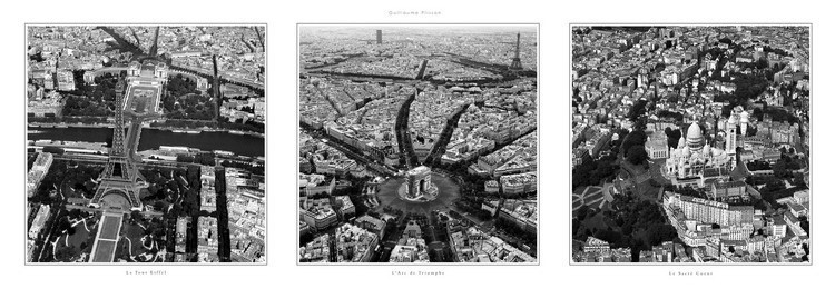 Monuments de Paris Festmény reprodukció