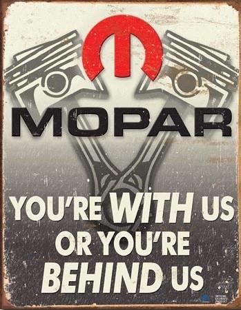 Mopar - Behind Us Metalplanche