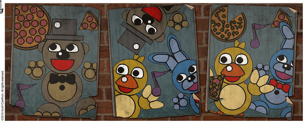 Five Nights At Freddy's - Vintage Posters muggar