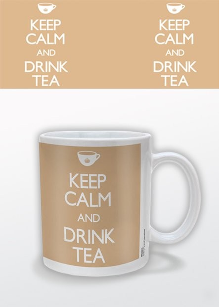 Keep Calm and Drink Tea muggar