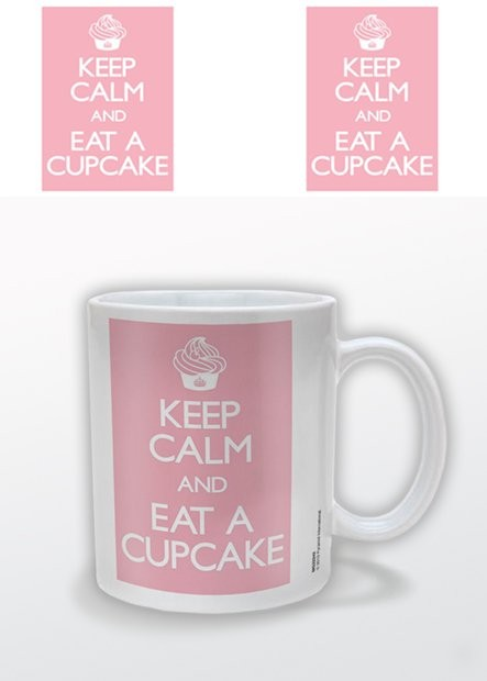 Keep Calm and Eat a Cupcake muggar